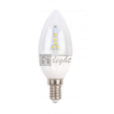 Светодиодная свеча C37-II E14 4.5W 220V Day White ПРОЗРАЧНАЯ