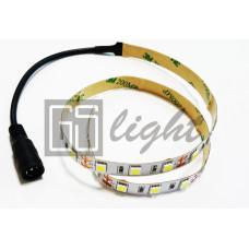 Отрезок светодиодной ленты SMD 5050 60LED/m 12V IP33 White 50см + разъем для подключения